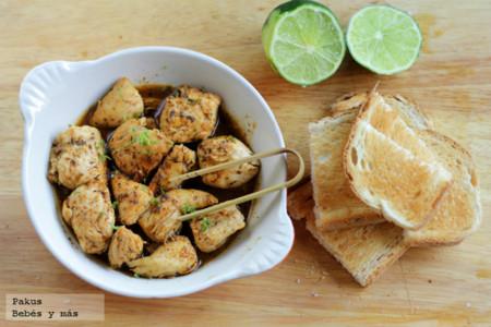 Pinchos de pollo extra rápidos para un aperitivo inesperado