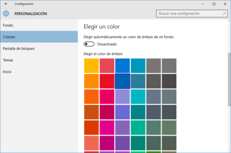 Cambiar color a las ventanas de Windows 10