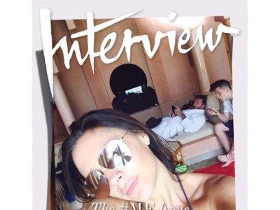 Ocho selfie-portadas para el septiembre de Interview Magazine