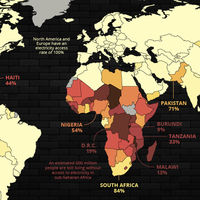 Más de 1.200 millones de personas siguen sin acceso a la electricidad. Este mapa ilustra dónde
