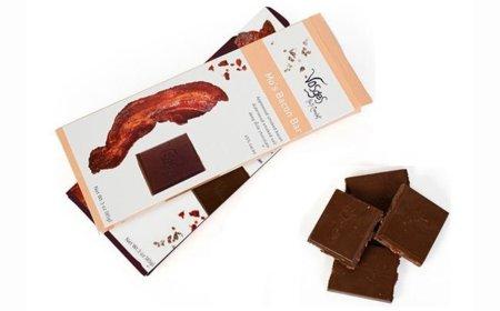 Chocolate con bacon frito