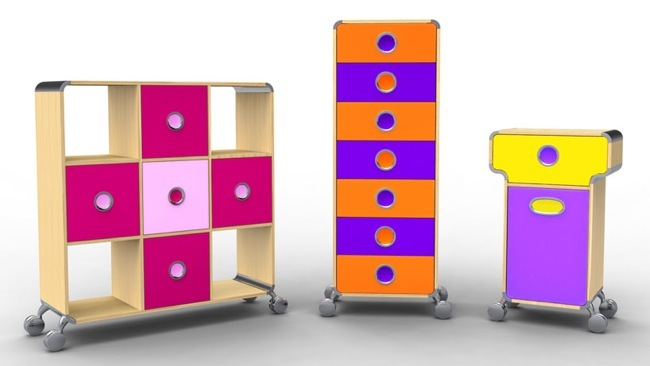 Trax, colección de muebles de almacenaje de Foppapedretti