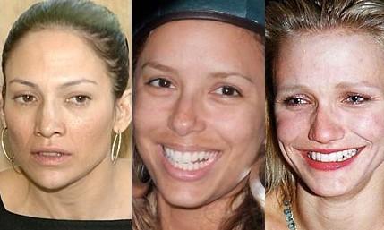 Jennifer Lopez, Eva Longoria y Cameron Díaz... sin maquillaje las 3
