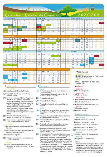 Calendario-Escolar 20-21-Canarias