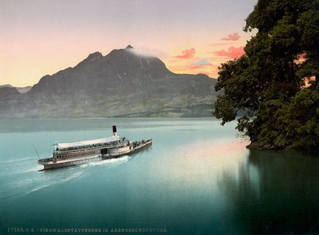 Sunset On Lake Lucerne