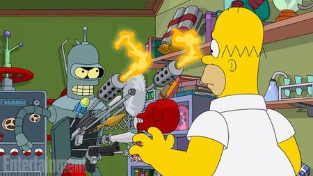 Primera imagen del crossover de 'Futurama' y 'Los Simpson'