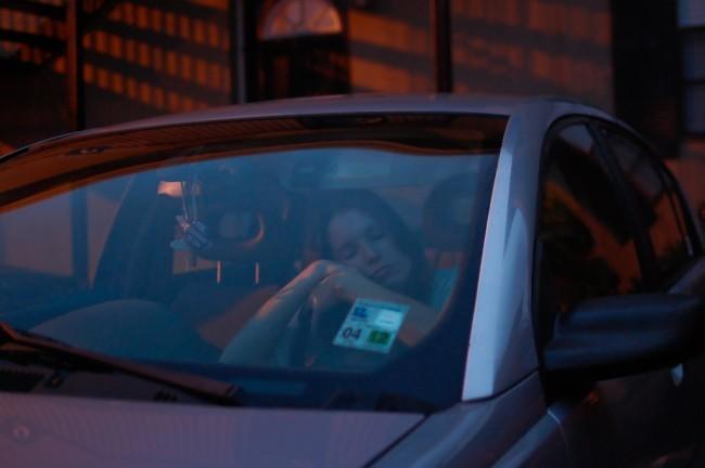Mientras conduces dormido pie