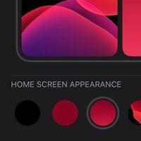 Una captura muestra cómo iOS 14 convierte fondos de pantalla en 'gradientes inteligentes'
