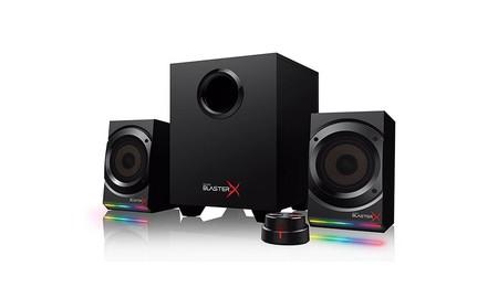 Creative Labs Sound BlasterX Kratos S5, altavoces gaming con iluminación RGB, por 123,86 euros, sólo hoy, en Amazon