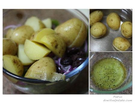 Ensalada de patatas. Pasos