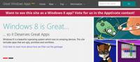 Great Windows Apps, un sitio que selecciona las mejores aplicaciones para Windows 8