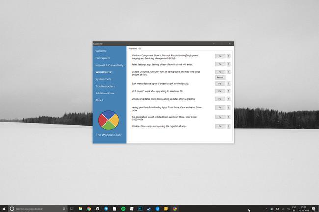FixWin, una herramienta portable para solucionar problemas de Windows 10 con un solo click