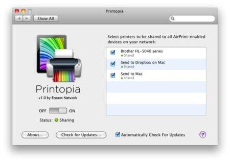 Printopia para usar AirPrint desde ya con todas las impresoras