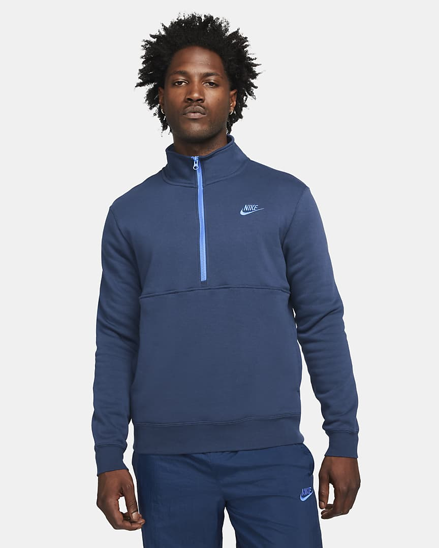 Sudadera media cremallera Nike Sportswear Club