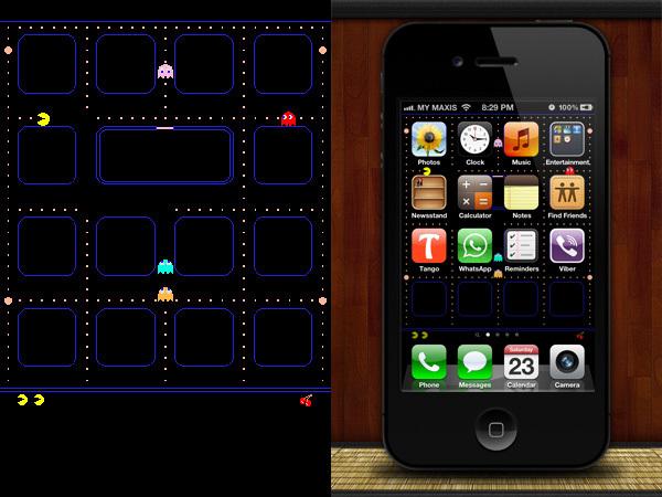 Fondo para el iPhone de Pac-man