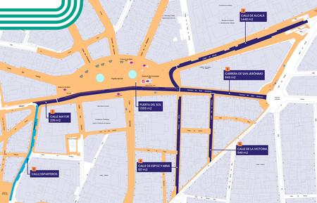 Puerta Del Sol Peatonal Mapa Calles