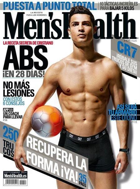 Cristiano Ronaldo luce esa pedazo de tableta en Men's Health