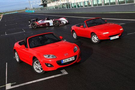 20 aniversario del Mazda MX-5 en el circuito de Le Mans