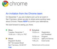 Chrome OS y el netbook de marca Google podrían presentarse el 7 de diciembre