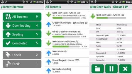uTorrent Remote para Android, gestiona y visualiza tus descargas desde el móvil