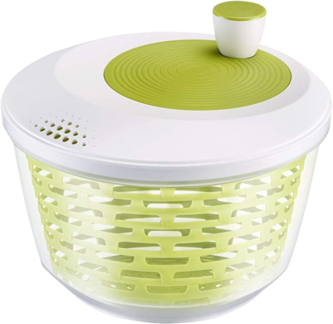 Westmark Centrifugadora de lechuga, Capacidad 4.4 litros, diámetro 23.5 cm, Plástico, Sin BPA, Spinderella, Color transparente/blanco/verde, 2430224A