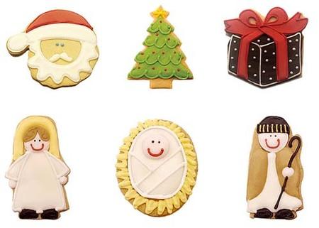 Galletas artesanas con motivos navideños