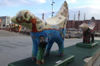 Super Lambanana, uno de los símbolos de Liverpool