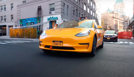 Tesla Model 3 taxi en Nueva York