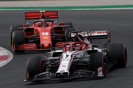 Raikkonen Leclerc Portugal F1 2020