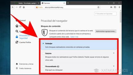 Configura Nivel De Privacidad