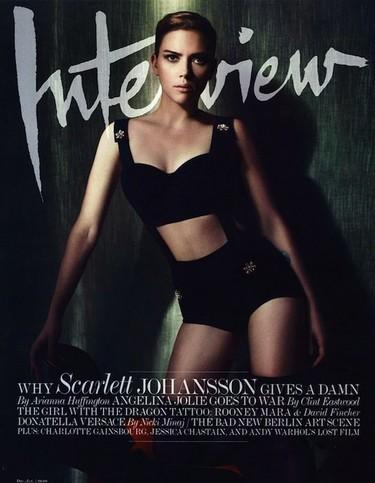 La teniente Scarlett (Johansson) para Interview