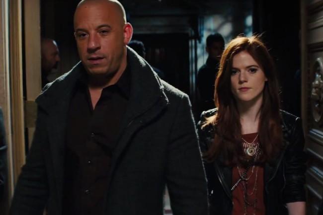 Vin Diesel y Rose Leslie en The Last Witch Hunter