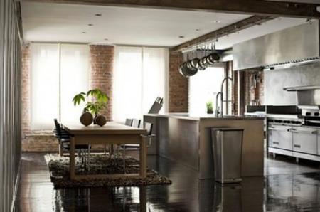 Una cocina de un loft.
