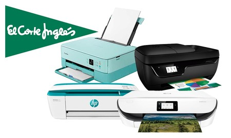 Ofertas en impresoras en El Corte Inglés: descuentos de hasta un 37%, envío gratis o recogida Click&Collect en modelos de Canon, HP o Epson
