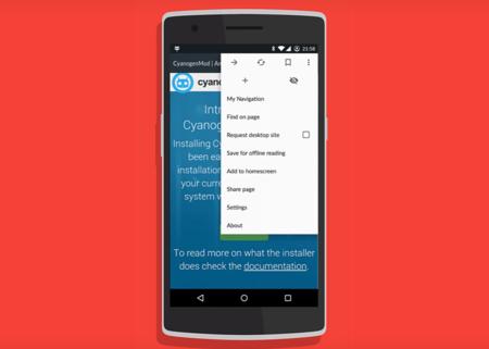 Gello, el navegador basado en Chromium se está lanzando en algunas compilaciones de  CyanogenMod