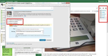Evernote permite ahora compartir las notas en Linkedin y añade vista de presentación para imágenes