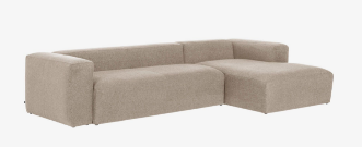 Sofá Blok 3 plazas chaise longue derecho beige 330 cm