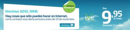 Movistar rebaja su ADSL 10MB...1€