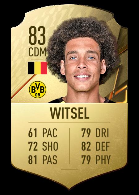 Witsel mejores jugadores bundesliga fifa 22
