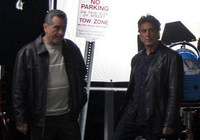 Robert de Niro y Al Pacino en el set de 'Righteous Kill'