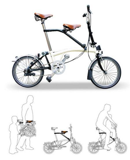 Sillín adicional para el niño para bicicletas Brompton