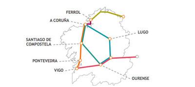 Tres rutas temáticas para recorrer Galicia en tren
