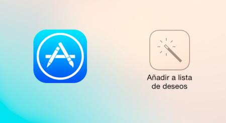 Lista de deseos de la App Store, novedades de iOS 7