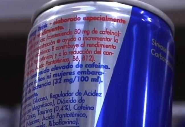 Ingredientes bebida energética