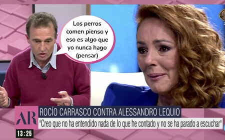"""Alessandro Lequio responde en 'El Programa de Ana Rosa"""" al """"perro no come perro"""" de Rocío Carrasco: """"Es una mujer que no está bien"""""""