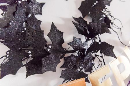Corona de murciélagos Halloween