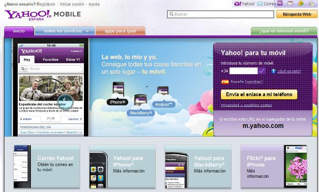 Yahoo móviles