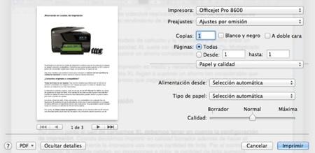 Configuración impresión HP Officejet Pro 8600
