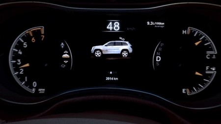Jeep Grand Cherokee, controles visuales