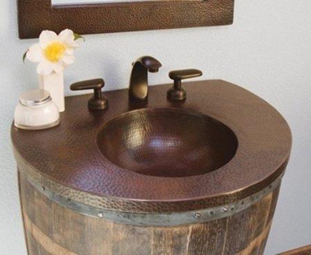Recicladecoración: lavabos hechos con viejos barriles de vino